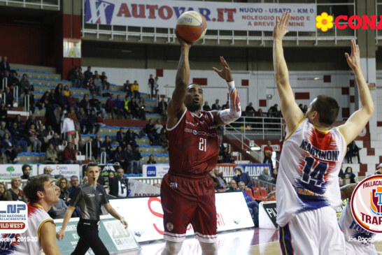 2B Control Trapani vs Novipiù Casale Monferrato: 62-60  Parziali: (25-12, 12-14, 17-16, 8-18).