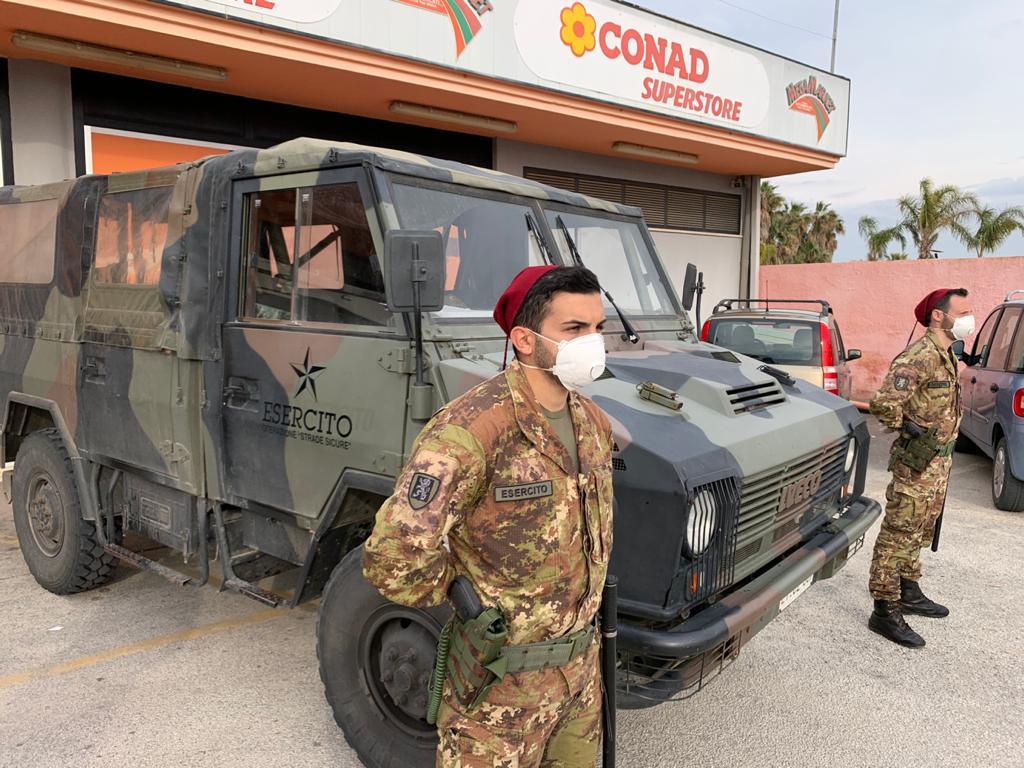 Come noto, da giorni l'Esercito opera da giorni in Sicilia per il supporto alla Protezione Civile e alle Autorità locali, impegnate nel contrasto all'emergenza sanitaria da Coronavirus.