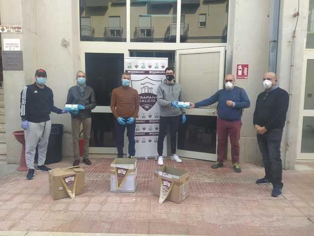 Il Trapani Calcio dona 1500 mascherine alla Protezione Civile comunale di Erice