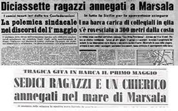 1964: LA TRAGEDIA NELLA LAGUNA DELLO STAGNONE  IL SINDACO DI GIROLAMO RICORDA LE 17 VITTIME