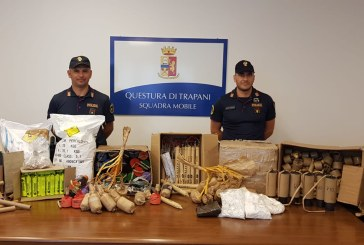 Trapani: arsenale di esplosivi scoperto dalla Polizia di Stato