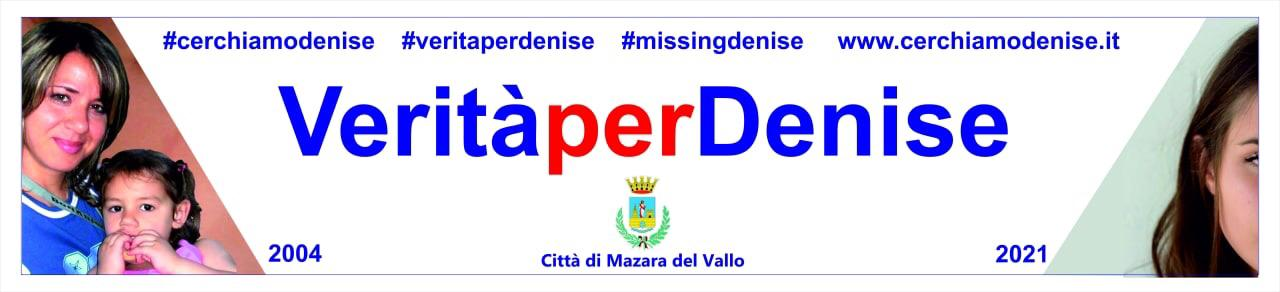 Striscione VERITA' PER DENISE L'affissione venerdì 23 aprile alle ore 12 nel Palazzo Cavalieri di Malta con Piera Maggio