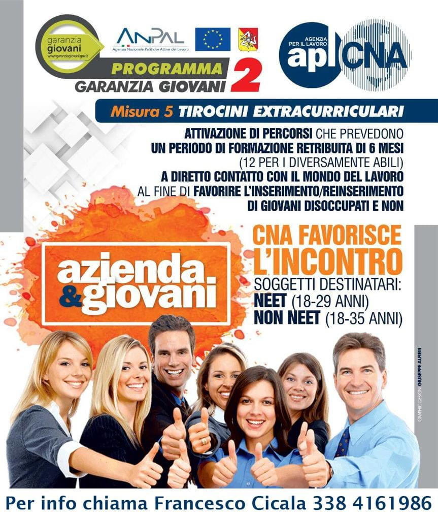 Garanzia Giovani 2:  Cna Trapani agevola il matching tra imprese e giovani