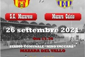 Domenica 26 settembre derby S.C. Mazarese vs Mazara Calcio.  Da oggi al via la vendita dei biglietti Tra tutti i biglietti venduti verrà sorteggiata una crociera per due offerta da uno sponsor